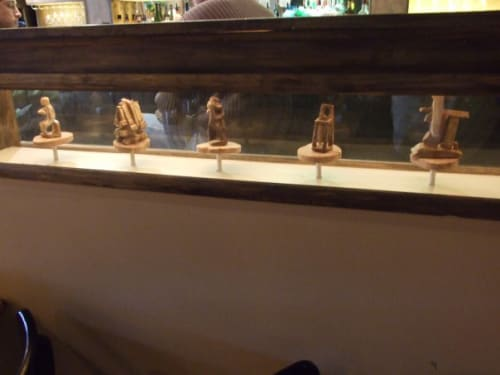 Sculptures by Jude Swafford seen at Cafe Nola, Frederick - Small Wood Fired Sculptures