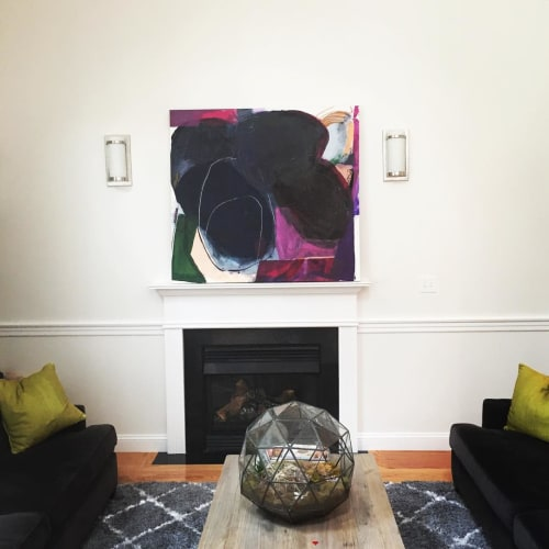 Paintings by Heather Chontos seen at Private Residence - Black Abstract Painting