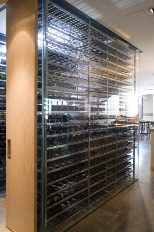 Furniture by Amuneal seen at Park Hyatt Washington D.C., Washington - Wine Storage Racks