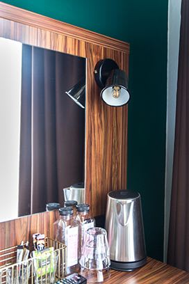 Lamps by Blom & Blom seen at Linden Hotel, Amsterdam - Custom-made Bedside Lamps
