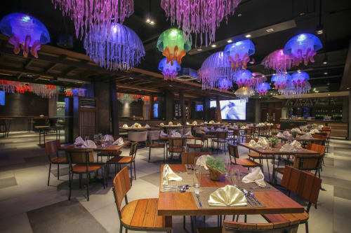 Lamps by MURILLO Cebu seen at Two Seasons Bayside Hotel, Coron - Custom-made Jellyfish Lamps