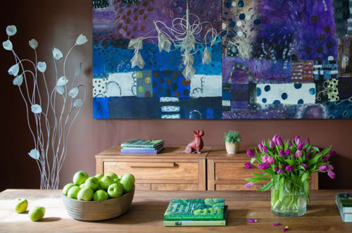 Paintings by Tati Kaupp seen at Private Residence - Winter Series #4