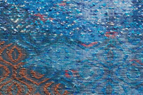 Handwoven tapestry of a Beach scene | Wall Hangings by Doerte Weber