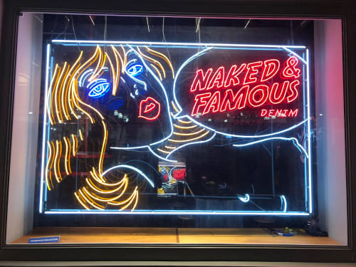 Lighting by Unknown Creator seen at Naked & Famous Denim NYC, New York - Neon Lady