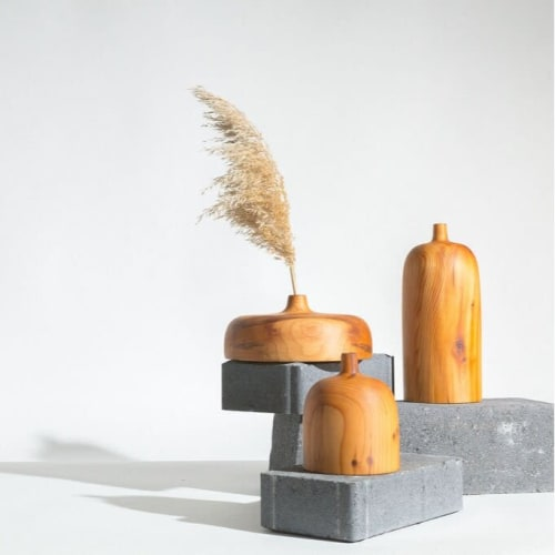 Vases & Vessels by Whirl & Whittle seen at Creator's Studio, Ottawa - Tall Zai Vase In Yew