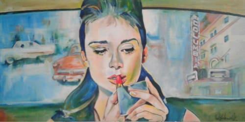 Paintings by Cheryl Hicks seen at Longview, WA, Longview - Hail Columbia!