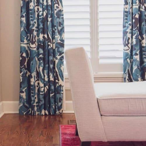 Curtains & Drapes by electra eggleston Fine Textiles seen at Germantown Inn, Nashville - havana azul print