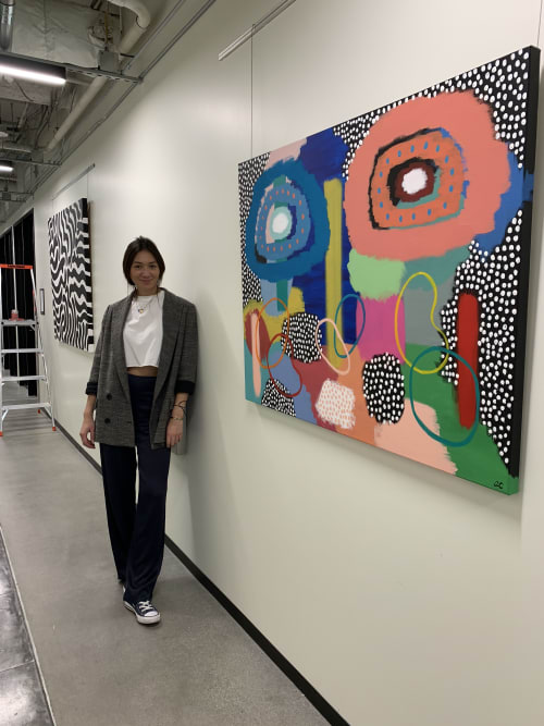 Paintings by Alli Conrad seen at Industrious Los Angeles Wilshire and Grand, Los Angeles - Gaea