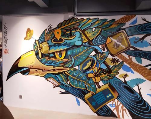 Murals by Kenji Chai seen at CO3 Social Office @ Puchong, Puchong - Explorer