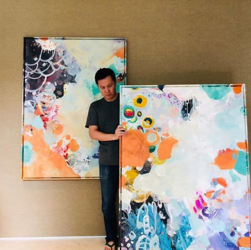 Paintings by Nino Yuniardi seen at Private Residence, Jakarta - Together