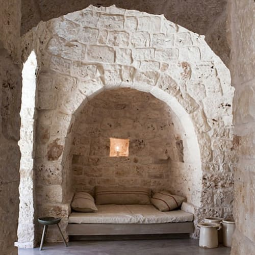 Pillows by Patriae seen at Private Residence, Ostuni - Grainsack Body Pillows