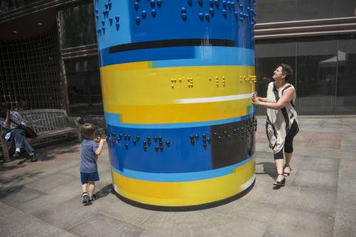 Public Sculptures by Lauren Herzak-Bauman seen at Eastman Garden, Cleveland - Common Energy