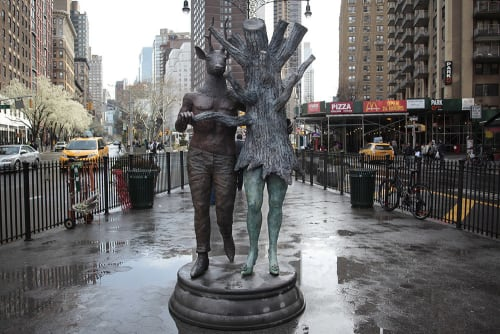 Public Sculptures by Kathy Ruttenberg seen at 72 Street / Broadway, New York - In Sync