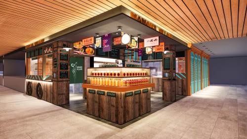 Interior Design by Studio Hiyaku seen at MLC Centre, Sydney - Mamak Village