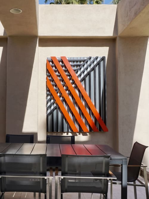 Sculptures by Ryan Campbell seen at Private Residence, Palm Springs - RMC1 Construct number 6