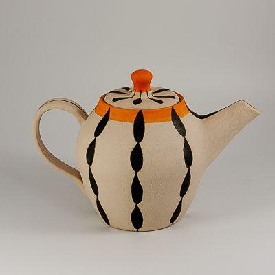 Stoneware 'Foliage' teapot and cups   Tableware by Kyra Mihailovic Ceramics