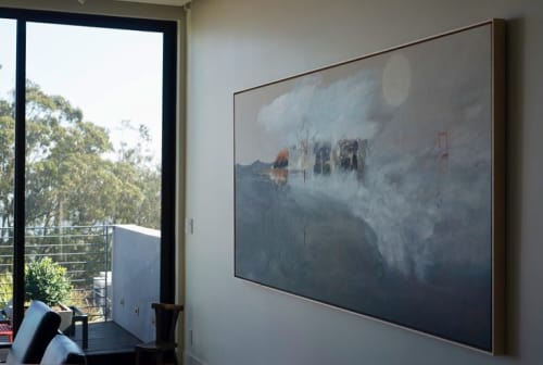 Paintings by DYD ART seen at Private Residence, San Francisco - Upside Down