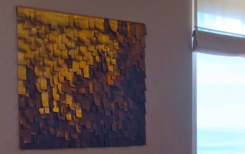 Paintings by Paolo Campagnolo seen at Private Residence, Taormina - Arazzo sp2, Capitonne' Argento