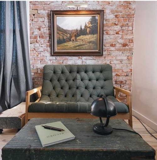 Chairs by Revive Designs and Upholstery seen at The Jennings Hotel, Joseph - Upholstered Regina Loveseat