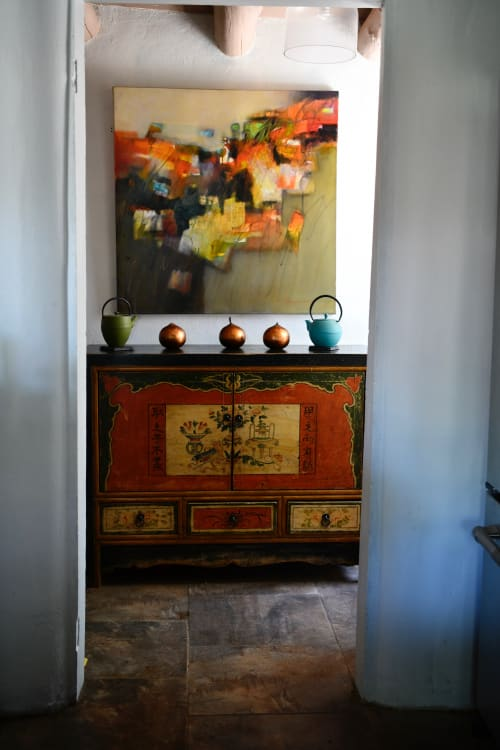 Paintings by Gwen Fox seen at Private Residence, Taos - Voices From the Past