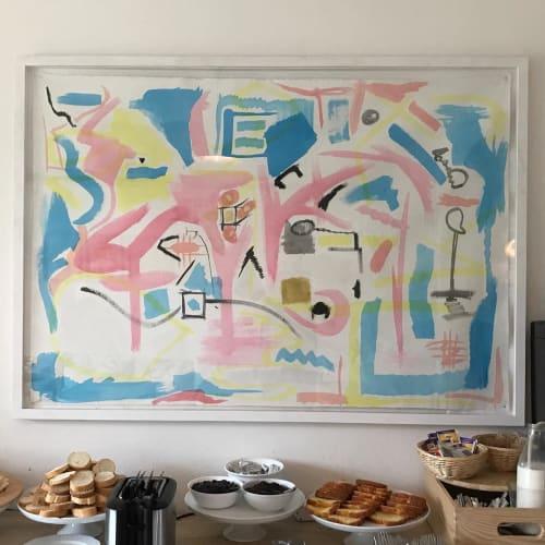 Paintings by Richard Lockett seen at Villa Lena Foundation - Painting