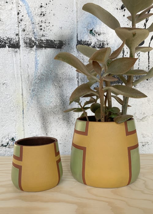 Vases & Vessels by Mineral Ceramics seen at Private Residence, San Francisco - Saguaro Planter