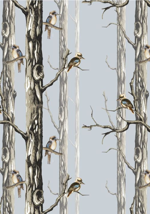 Wallpaper by Tamara Design Co seen at The Old Canberra Inn, Lyneham - Birds in the Woods