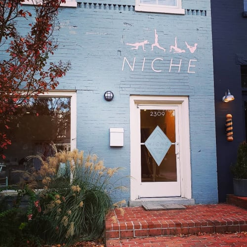 Murals by Nicole Gomez seen at Niche Pilates Studio, Richmond - Signage