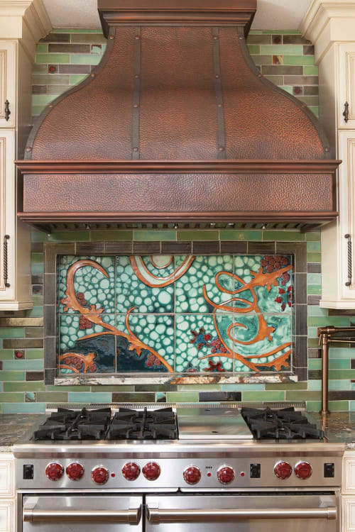 Tiles by Clay Squared to Infinity seen at Private Residence, Minneapolis - Tile Mural Kitchen Backsplash
