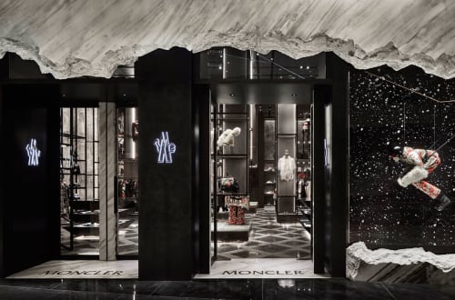 Interior Design by CURIOSITY seen at The Dubai Mall, Dubai - MONCLER DUBAI MALL