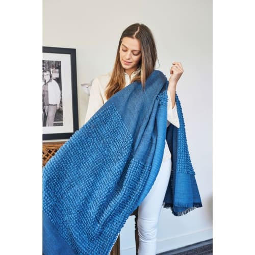 Macaroon Midnight Throw   Linens & Bedding by Studio Variously