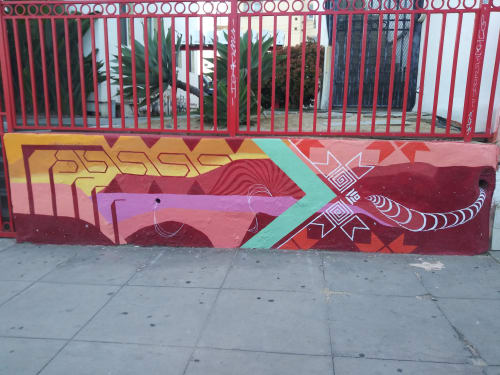 Murals by 2hermano seen at Barrio Logan, San Diego - Barrio Logan Anti-Gentrification Talisman
