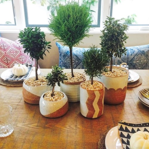 Vases & Vessels by Mary McDonald seen at Private Residence, Newport Beach - Ceramic Planters