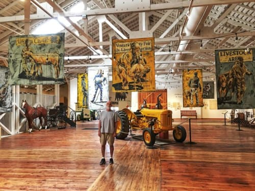 Paintings by An Artist Life seen at Museum Agriculture Ventura County, Santa Paula - Agriculture Museum One Person Show of Figurative Art Related to Agriculture