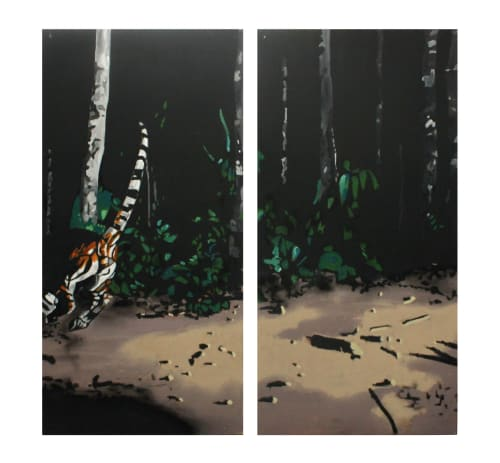 Paintings by Dave Young Kim seen at High Treason, San Francisco - Sister Sun and Brother Moon