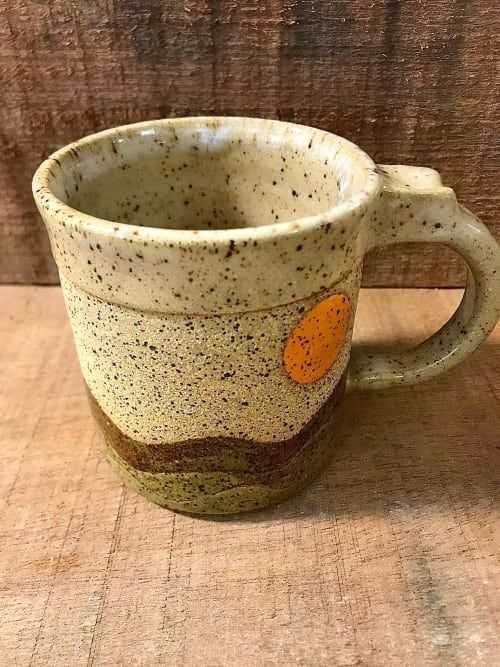 Cups by Honey Bee Hill Ceramics seen at Creator's Studio, Rockport - Hillside Mug, Handmade stoneware