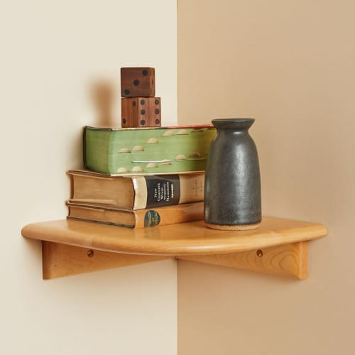 Furniture by Tightrope seen at Private Residence, Brooklyn - Maple Corner Shelf