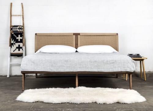 Beds & Accessories by Semigood Design - Hardwood Rian Bed, Woven Danish Cord Headboard