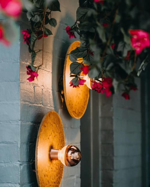 Sconces by James Walsh. Studio seen at Percy Plunkett, Penrith - Igneous Wall Lights