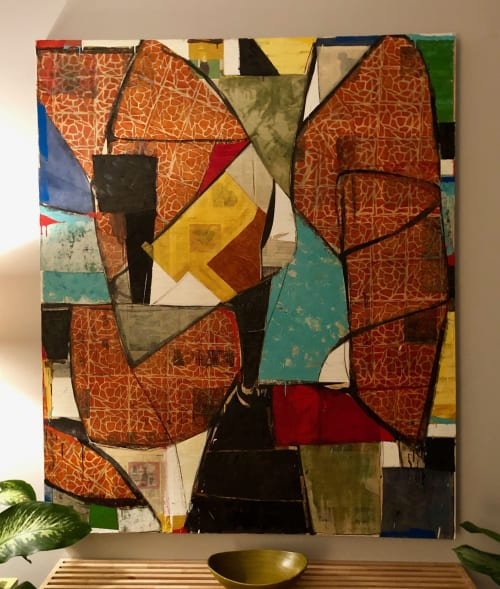 """Paintings by Brad Ellis - Artist seen at Private Residence, Austin - Painting: """"The Avatar"""""""
