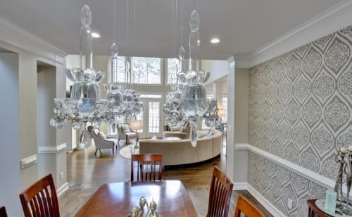 Chandeliers by Prestige Chandelier | Custom Designs seen at California, USA - Floating Candelabra Chandelier by Prestige Chandelier