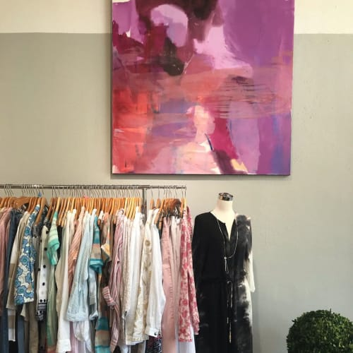 Paintings by Kari Kroll seen at Tuck Pasadena, Pasadena - Pink Abstract Painting