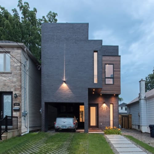 """Architecture by Atelier RZLBD seen at Private Residence, Toronto - """"Totem House"""" Project"""