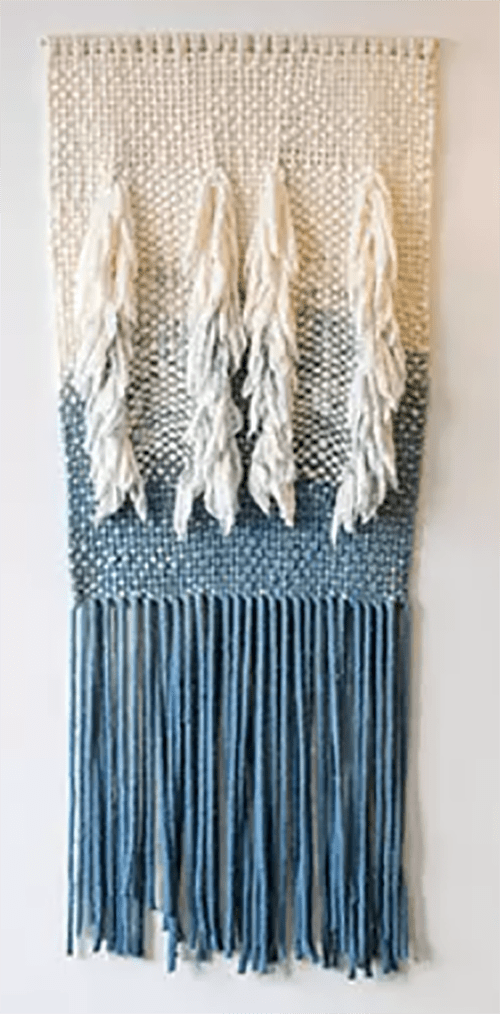 Macrame Wall Hanging by Liz Robb seen at Hi-Lo Hotel, Autograph Collection, Portland - Indigo Duel