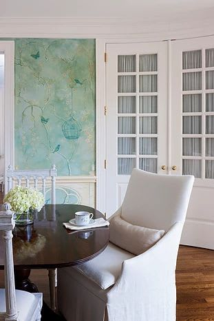 Chinoiserie Dining Room | Murals by Nicolette Atelier