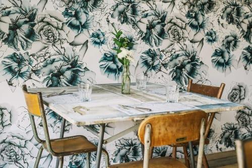 Wallpaper by Candice Kaye Design at Maman Cafe, New York - Custom Prints