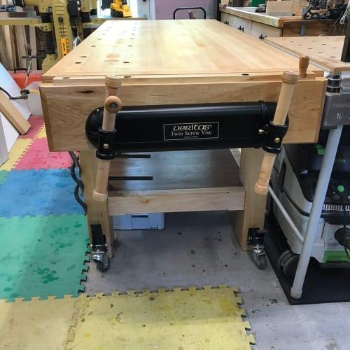 Furniture by Wayne Delyea seen at Wayne Delyea Furniture Maker Shop, Granbury - Work Bench