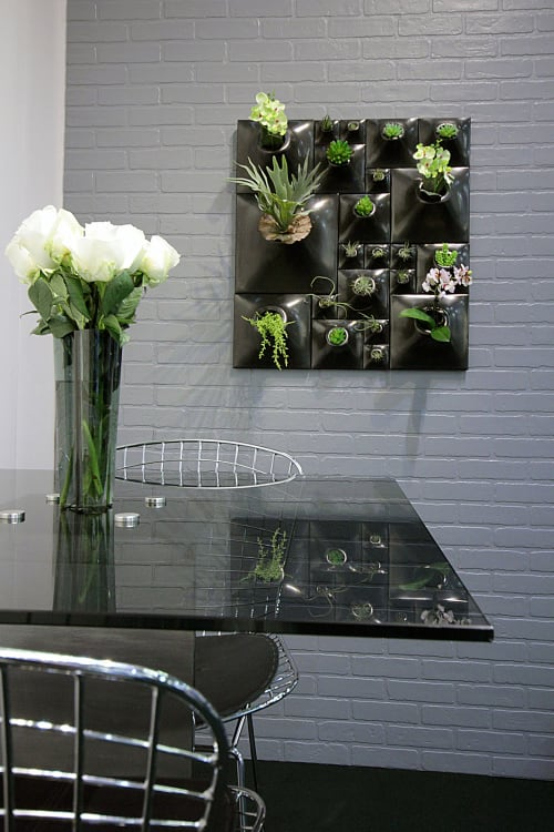 "Plants & Landscape by Pandemic Design Studio seen at Private Residence, New York - The Node Collection - Gunmetal 30"" x 27"""