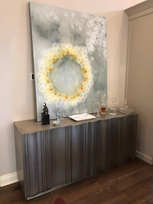 Paintings by Mel Rea at Private Residence, Lexington - Painting in Bourbon Bar