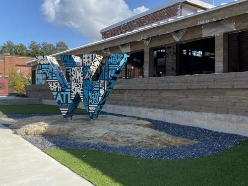 Public Sculptures by John Tindel seen at The Works -- Upper Westside Atlanta, Atlanta - Public Sculpture - Southern Dialect